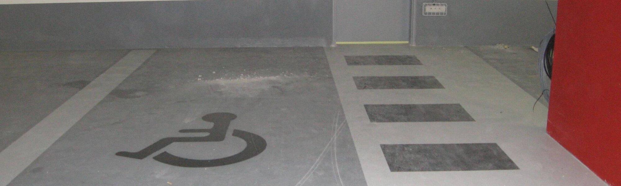 marquage au sol parking handicape