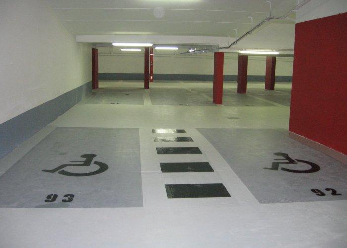 marquage au sol parking sous terrain
